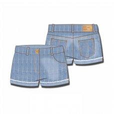 TG DSHORT 1: Mid Wash Denim Short (9 Months-3 Years)