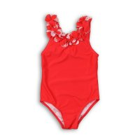 TG SWIM 6: Plain Flower Detail Swimsuit (9 Months-3 Years)