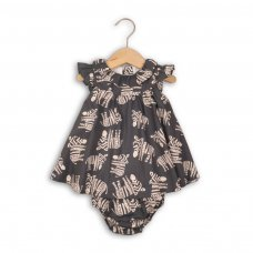 Tribal 1P: 2 Piece All Over Print Woven Dress & Knicker Set (12-24 Months)