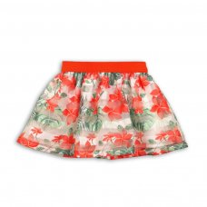 Tropicana 9: All Over Print Skirt With Organza Stripe (1-3 Years)