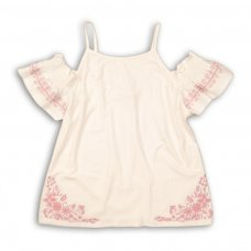 Tumbleweed 1P: Cold Shoulder Top With Shirring & Embroidery (8-13 Years)