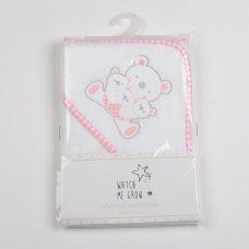 H1974: Baby Girls Teddy Hooded Towel/Robe