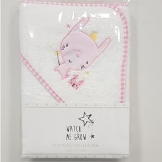 H1979: Baby Girls Bunny Hooded Towel/Robe