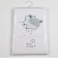 K1701: Baby Unisex Sheep Hooded Towel/Robe