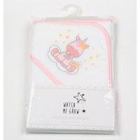 K1703: Baby Girls Unicorn Hooded Towel/Robe