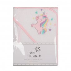 Y1878: Baby Girls Unicorn Hooded Towel/Robe