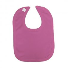 VB-Cerise: Plain Cotton Velcro Bib