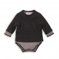 Wild 9: Mock Double Layer Body With Waffle Top (0-12 Months)