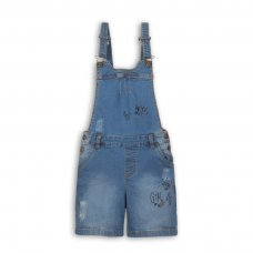 Wilderness 1: Grafitti Print Ripped Denim Bibshort (3-8 Years)