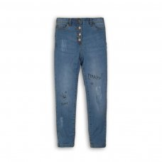 Wilderness 7: Grafitti Print Ripped Skinny Denim Jean (3-8 Years)