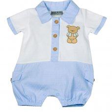 H1911: Baby Boys Teddy Romper (NB-6 Months)