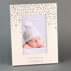 "XM2354: Bambino Little Star Christmas Photo Frame - 4"" x 6"""