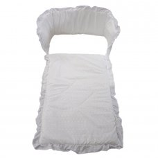 Broderie Anglaise Cot Quilt & Bumper Set: White