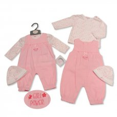 BIS-2020-2263: Baby Girls 3 Piece Outfit- Girl Power (NB-3 Months)