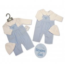 BIS-2020-2288: Baby Boys All In One Romper & Hat Set- Beyond Cool (NB-3 Months)