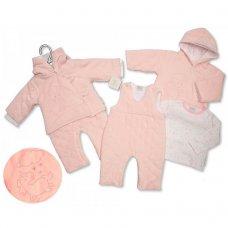 BIS-2028-2141: Baby Girls Unicorn Padded 3 Piece Set (NB-6 Months)