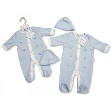 BIS-2098-1957: Baby Boys Toys All In One & Hat Set (NB-3 Months)
