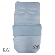 Dimple Velour Padded Footmuff/Cosytoe: Blue
