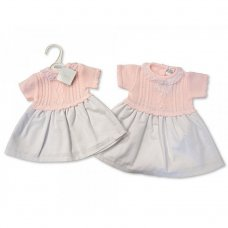BW-10-708: Baby Girls Knitted Dress (NB-6 Months)