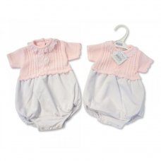 BW-10-709: Baby Girls Knitted Romper (NB-6 Months)