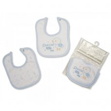 BW-104-728S: Premature Baby Boys 2 Pack Bibs
