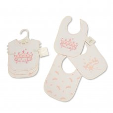 BW-104-747: Baby Princess Velcro Fastening 3 Pack Bibs