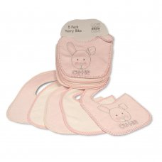 BW-104-755: Baby Terry Bibs 5 Pack - Cutie