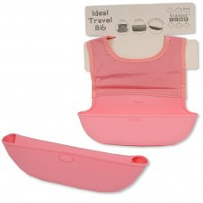 BW-104-819P: Baby Travel Feeder Bib- Pink