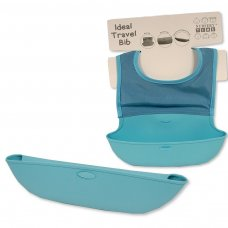 BW-104-819S: Baby Travel Feeder Bib- Sky