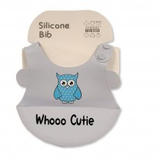 BW-104-820S: Baby Silicone Feeder Bib- Sky