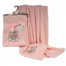BW-112-1008: Baby Wrap With Embroidery- Pink