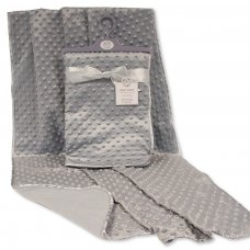 BW-112-1012-HAN: Baby Velour Bubble Wrap with Fleece Back and Satin Trim