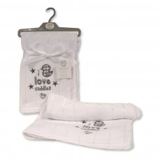BW-112-1015W: I Love Cuddles Baby Wrap - White