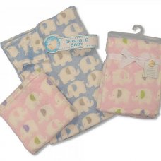 BW-112-677-B: Baby Blue Elephant Blanket