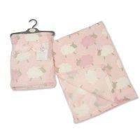 BW-112-930-P: Baby Pink Printed Sheep Wrap