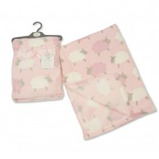 BW-112-930-P: Baby Pink Printed Sheep Wrap