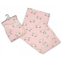 BW-112-979P: Baby Pink Printed Sheep Wrap