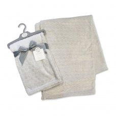 BW-112-987G: Embossed Bubbles Baby Wrap - Grey