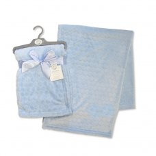 BW-112-987B: Embossed Bubbles Baby Wrap - Blue