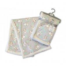 BW-112-990G: Baby Mink Printed Panda Wrap- Grey