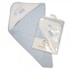 BW-120-080: Baby Boys Hooded Towel - Prince (75 x 75 cm)