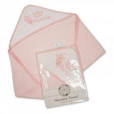 BW-120-081: Baby Girls Hooded Towel - Princess (75 x 75 cm)