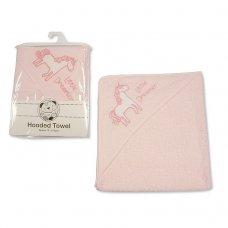 BW-120-115: Baby Girls Unicorn Hooded Towel - Little Dreamer (75 x 75 cm)