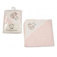 BW-120-116: Baby Girls Unicorn Hooded Towel - One Of A Kind (75 x 75 cm)
