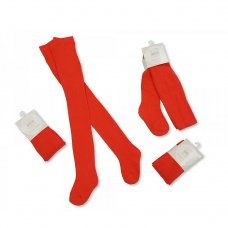 BW-61-2178: Baby Cotton Tights- Red (12-24 Months)