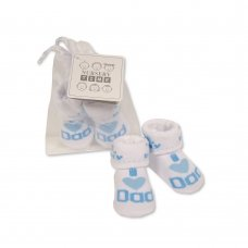 BW-6115-2211: Baby Boys Socks in Mesh Bag - I Love Dad