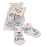 BW-6115-2213: Baby Boys Socks in Mesh Bag - I Love Daddy