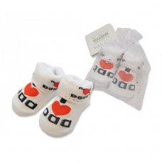 BW-6115-2117: Baby Socks in Mesh Bag - I Love Dad