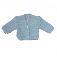 C66B: Baby Blue Knitted Cardigan (0-9 Months)