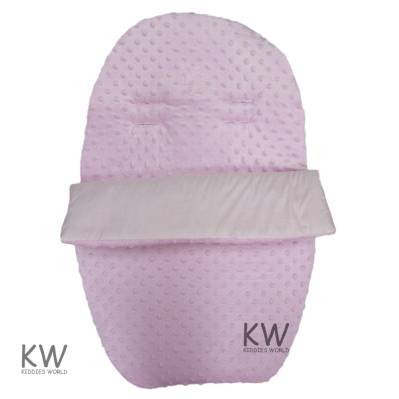 Dimple Velour Padded Car Seat Footmuff: Pink